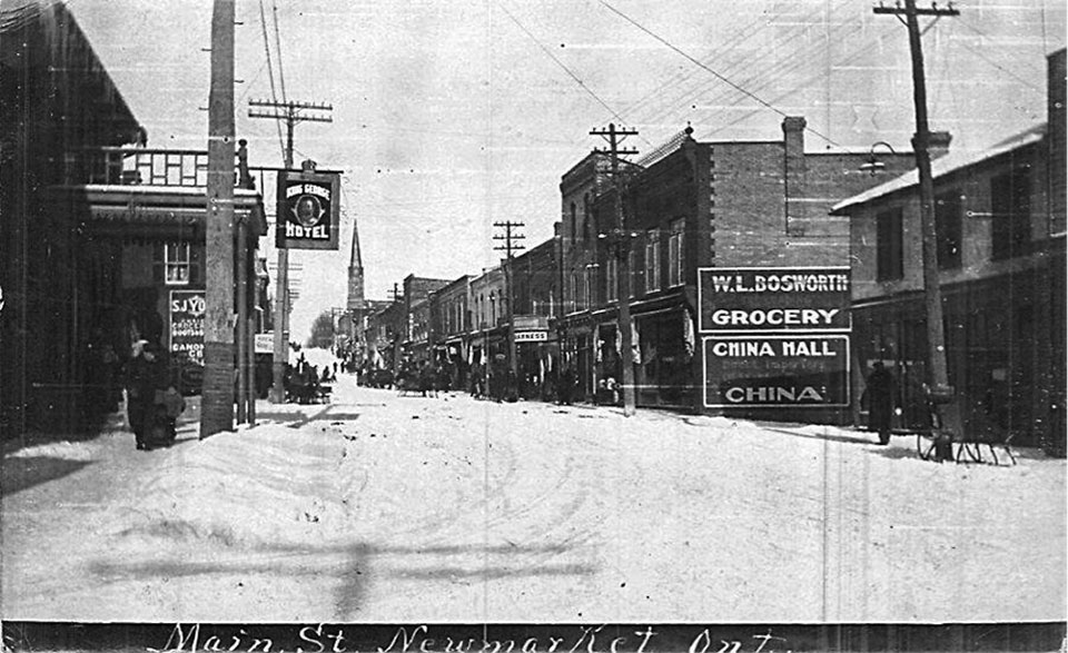 Main St, Newmarket - antique photo